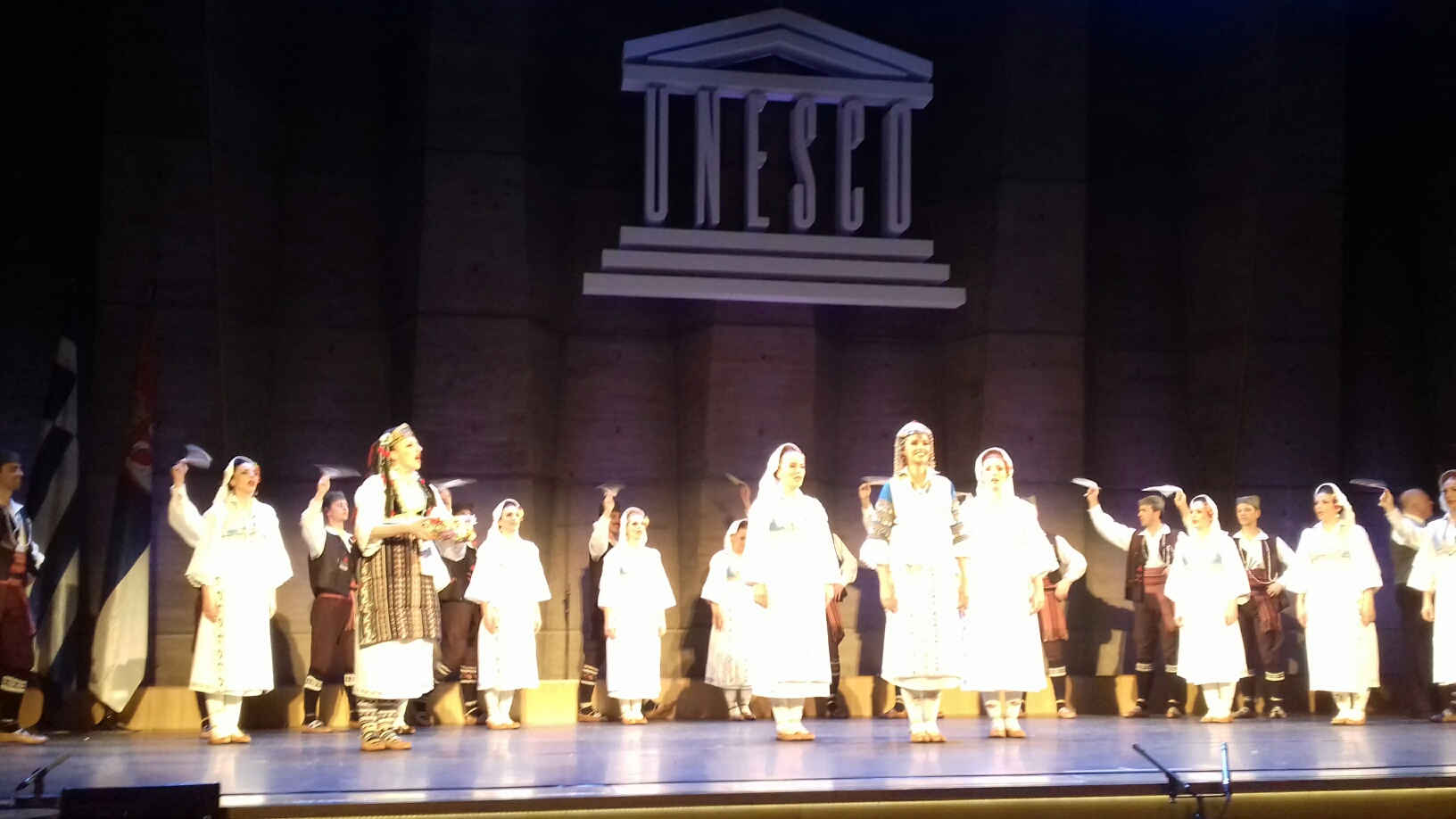 Paris: Serbian and Greek folk dance ensembles perform at UNESCO
